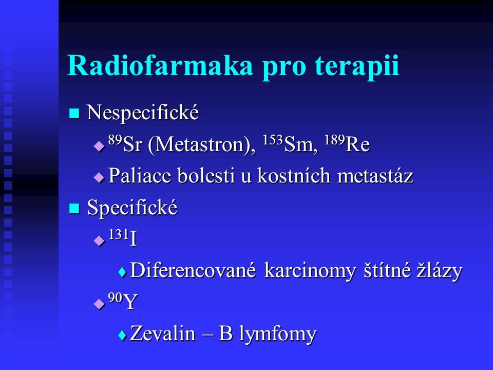 Radiofarmaka pro terapii