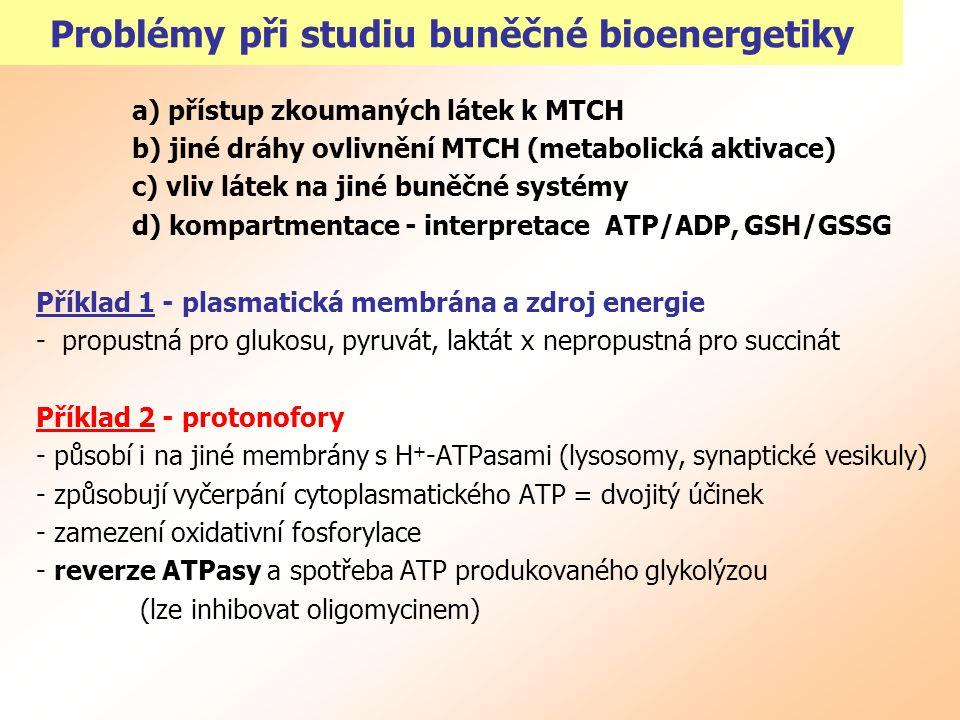 Problémy při studiu buněčné bioenergetiky