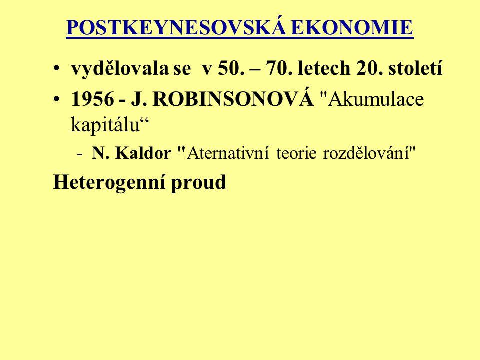 POSTKEYNESOVSKÁ EKONOMIE