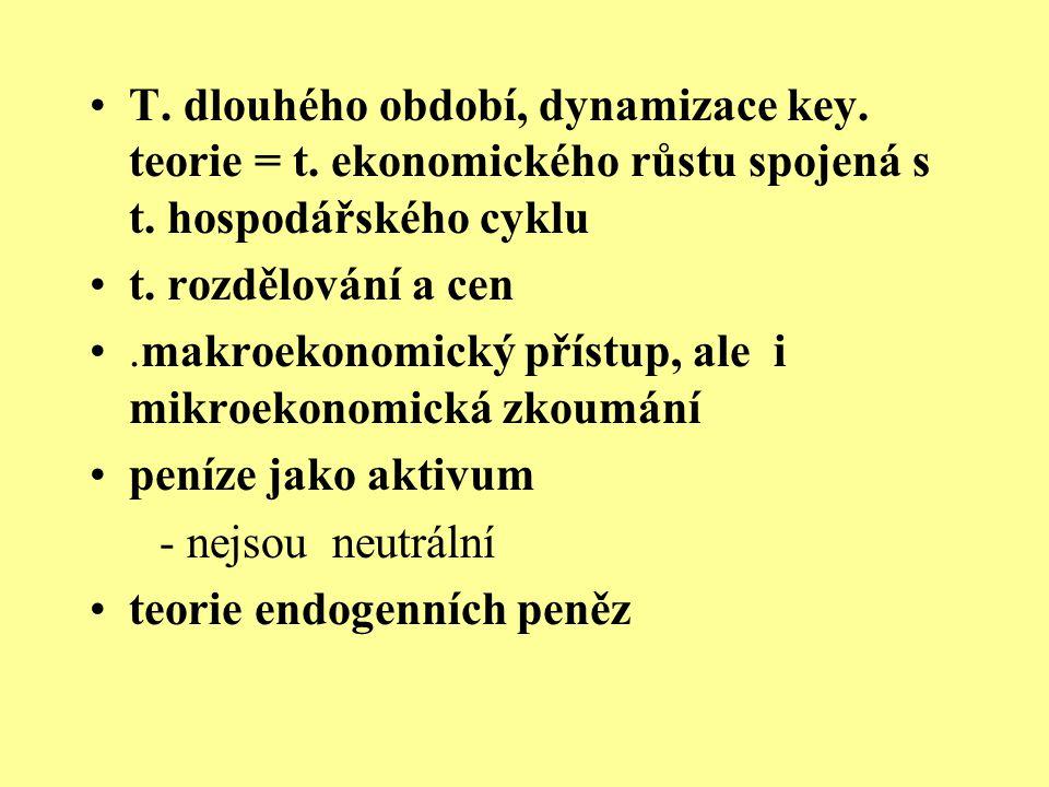 T. dlouhého období, dynamizace key. teorie = t