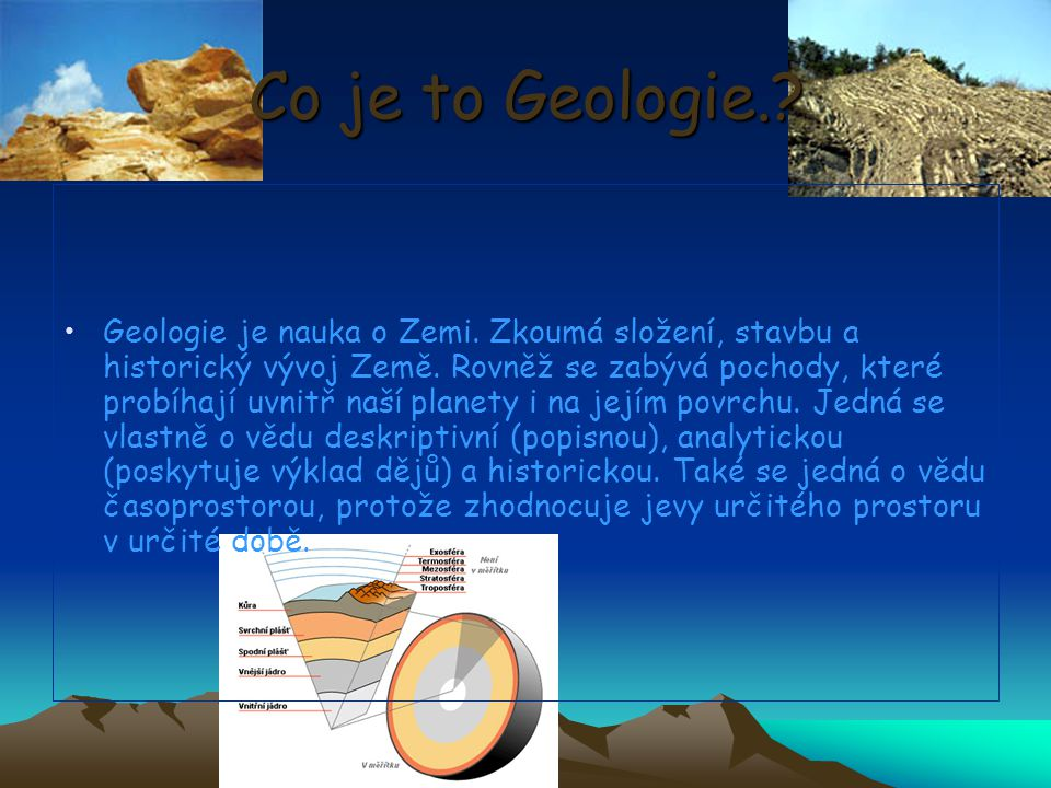 Co je to Geologie.