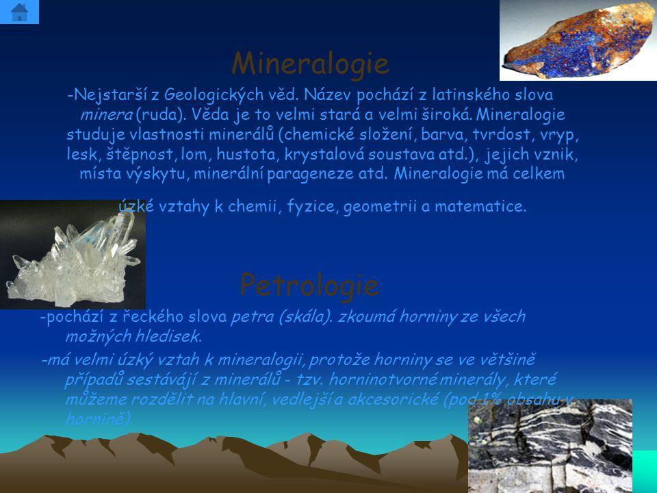 Mineralogie Petrologie