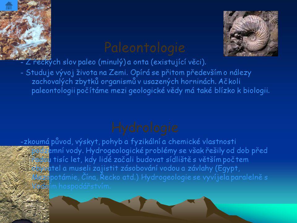 Paleontologie Hydrologie