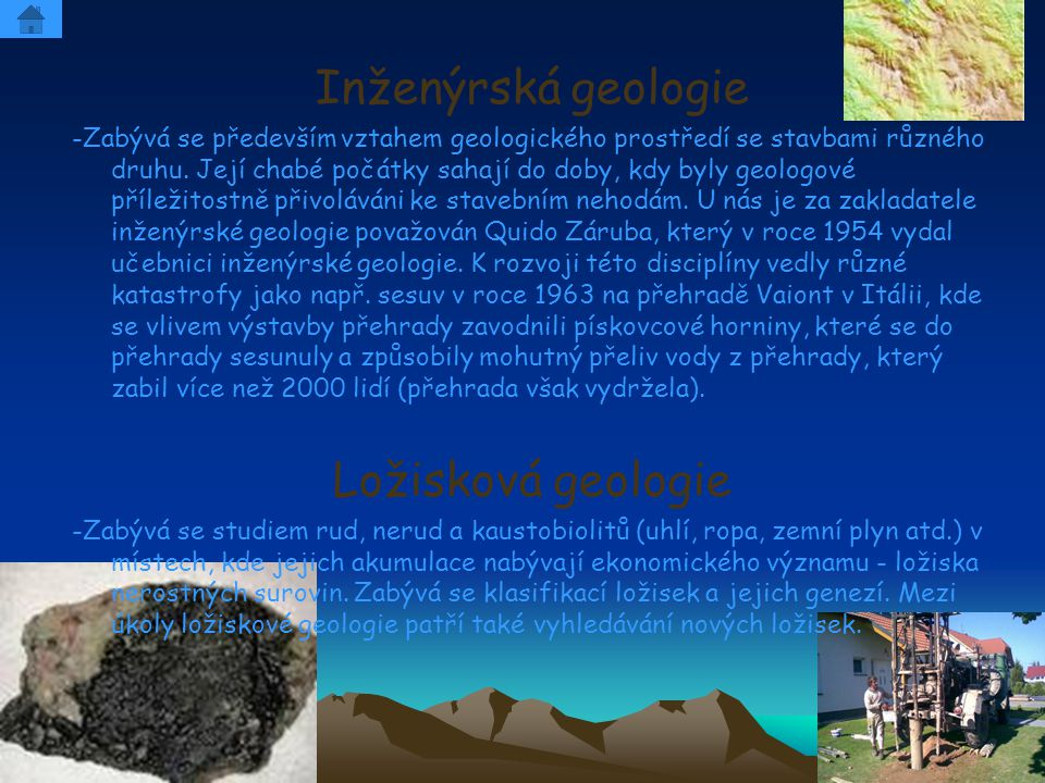 Inženýrská geologie Ložisková geologie