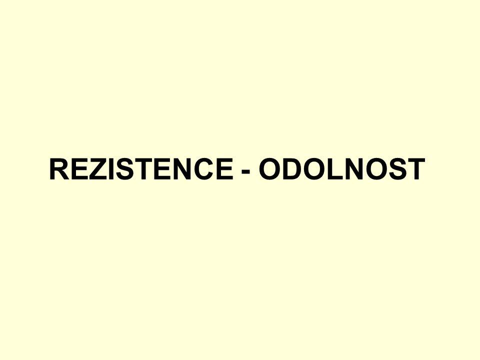 REZISTENCE - ODOLNOST