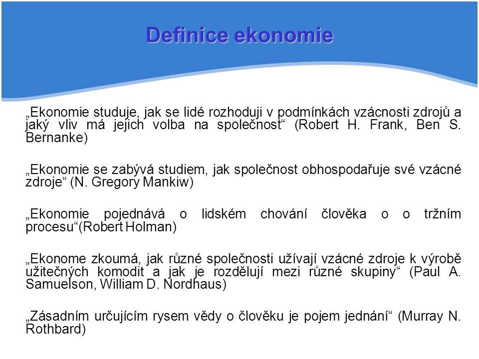 Definice ekonomie