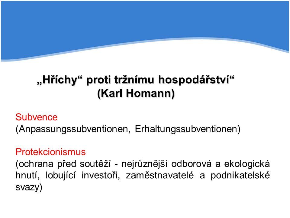 """""""Hříchy proti tržnímu hospodářství (Karl Homann)"""