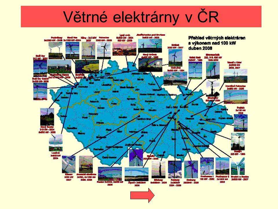 Větrné elektrárny v ČR