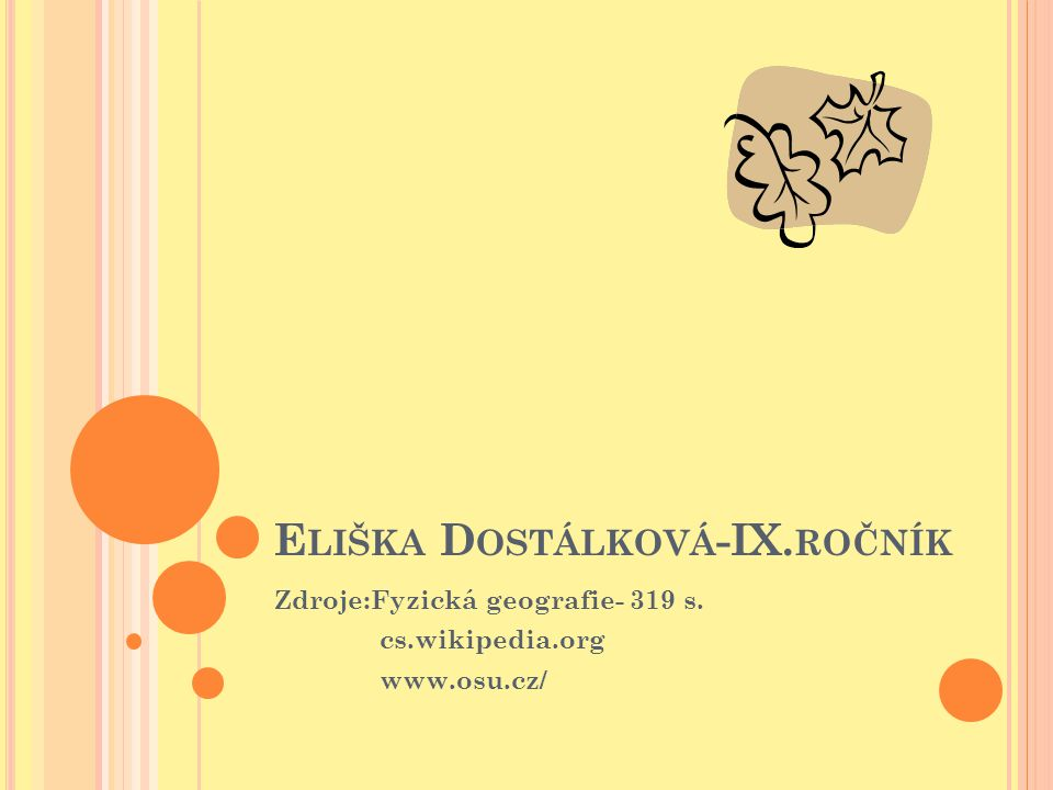 Eliška Dostálková-IX.ročník