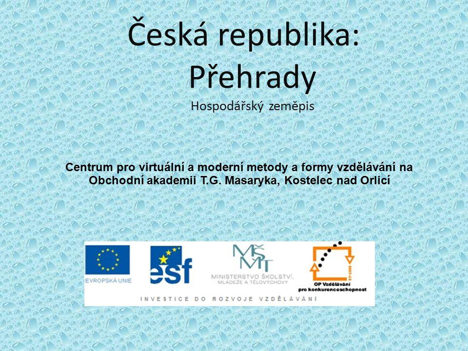 Česká republika: Přehrady Hospodářský zeměpis