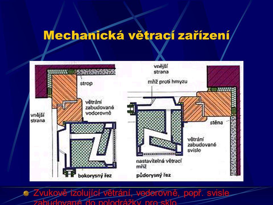 Mechanická větrací zařízení