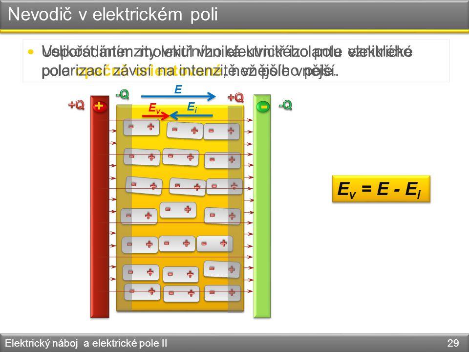 Nevodič v elektrickém poli