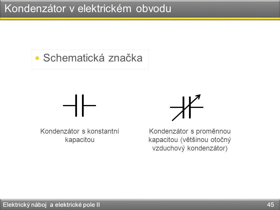 Kondenzátor v elektrickém obvodu