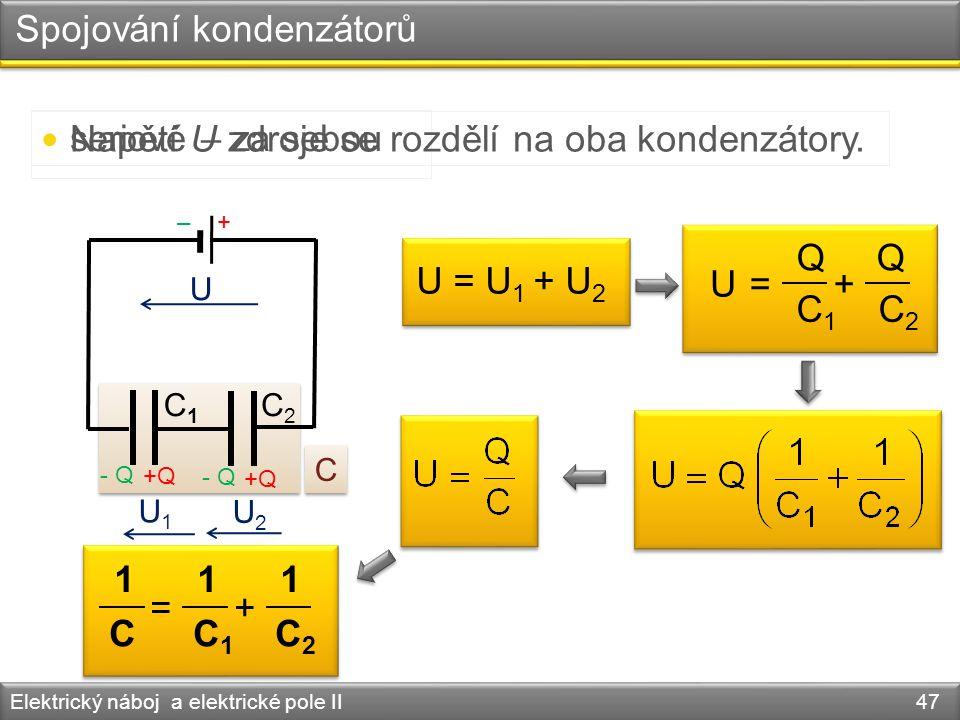 Spojování kondenzátorů