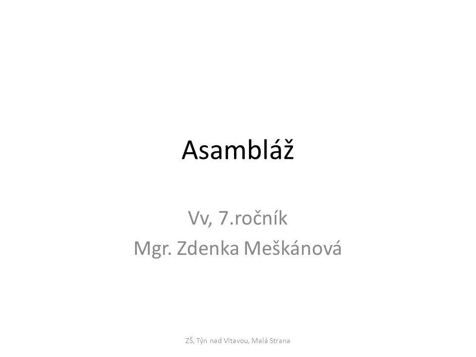 Vv, 7.ročník Mgr. Zdenka Meškánová