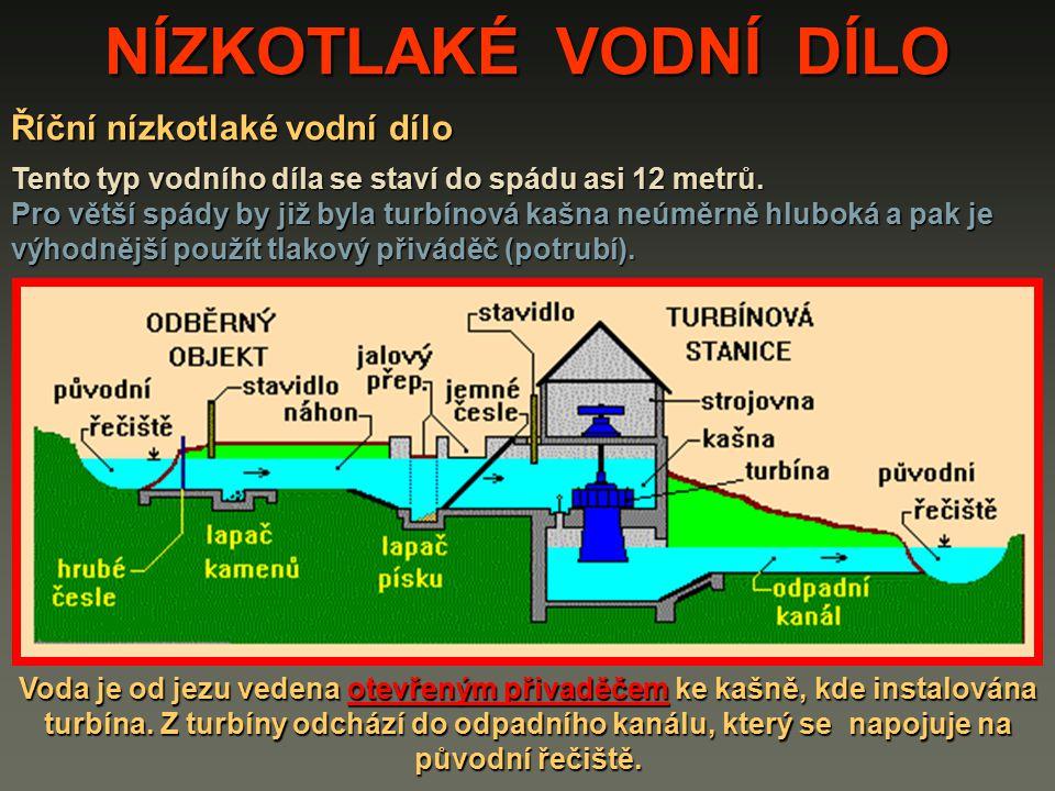 Říční nízkotlaké vodní dílo