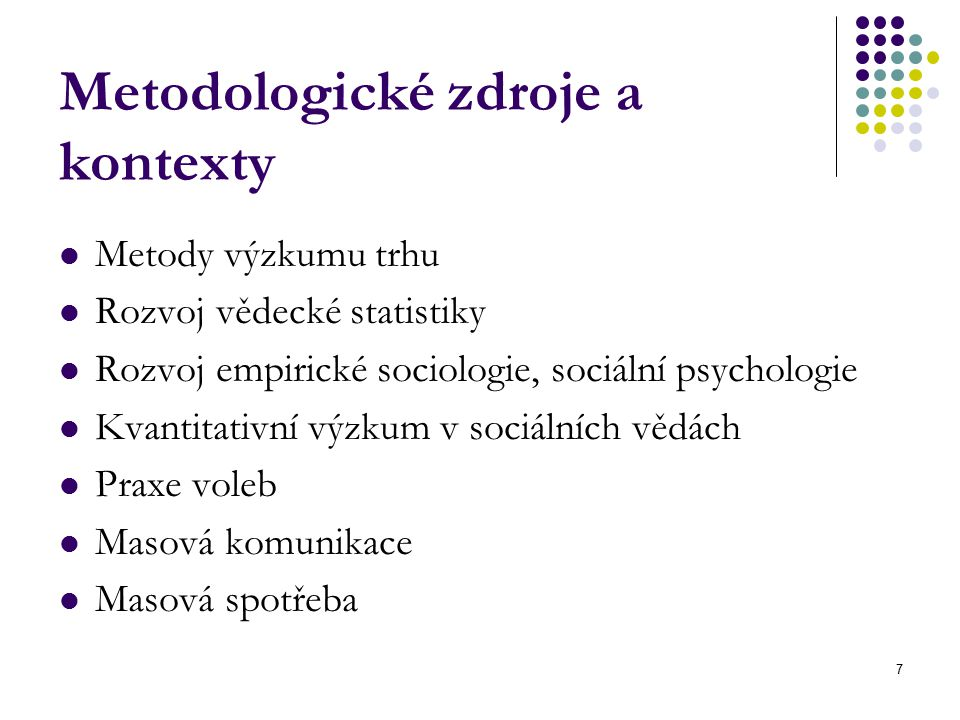 Metodologické zdroje a kontexty