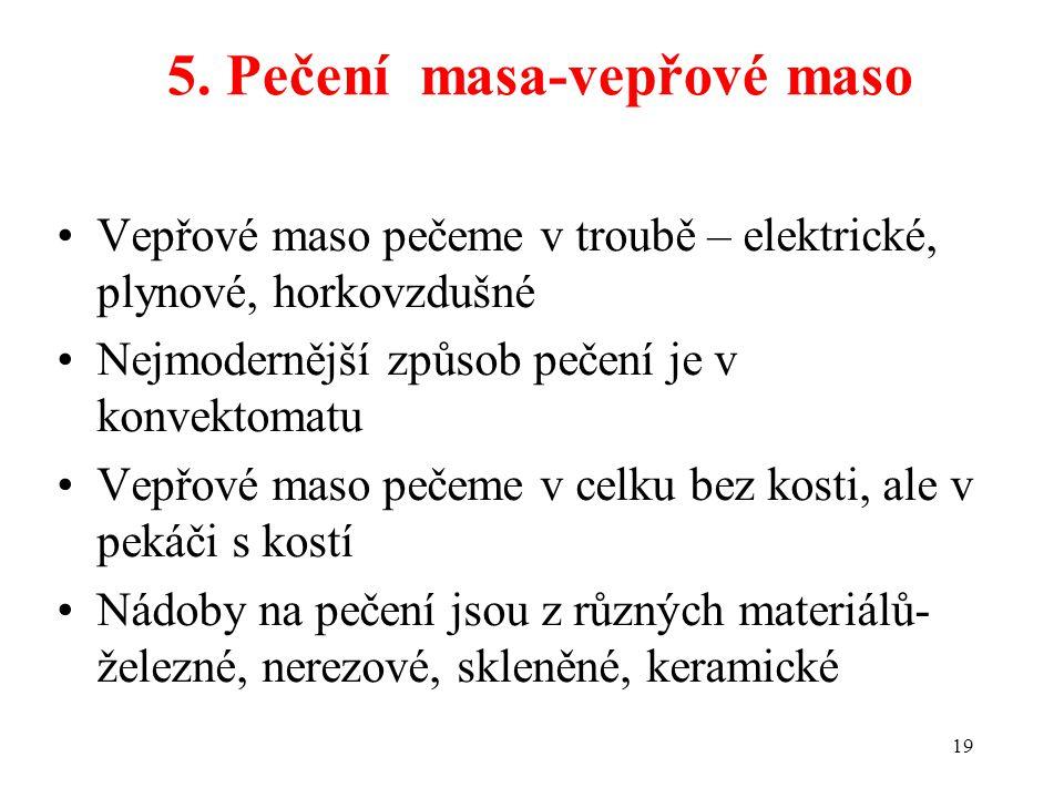 5. Pečení masa-vepřové maso
