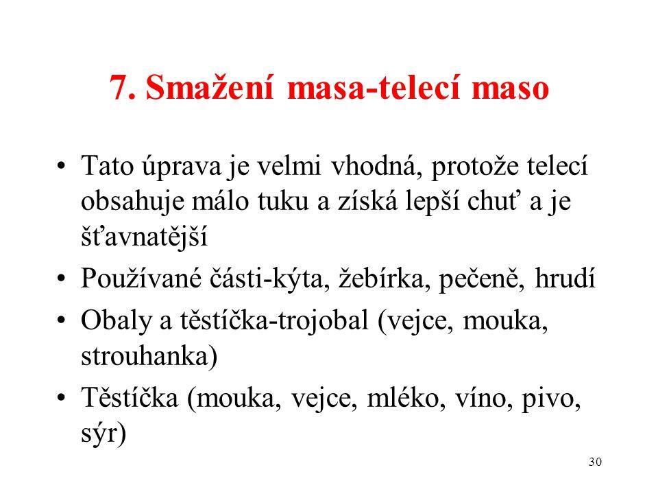 7. Smažení masa-telecí maso
