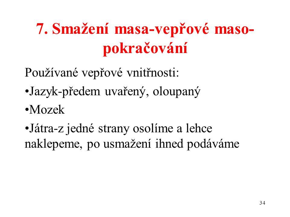 7. Smažení masa-vepřové maso-pokračování