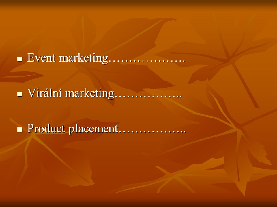 Event marketing……………….