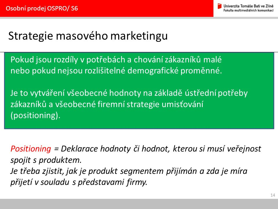 Strategie masového marketingu