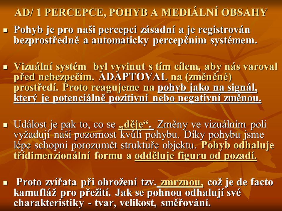 AD/ 1 PERCEPCE, POHYB A MEDIÁLNÍ OBSAHY