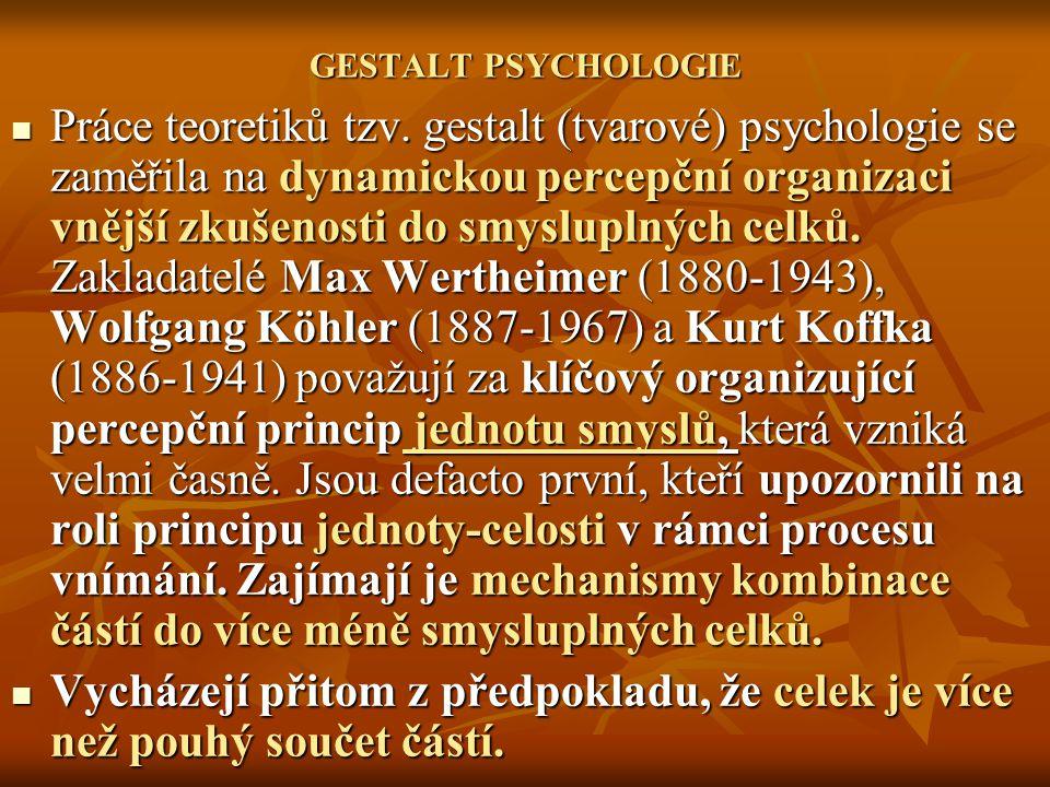 GESTALT PSYCHOLOGIE