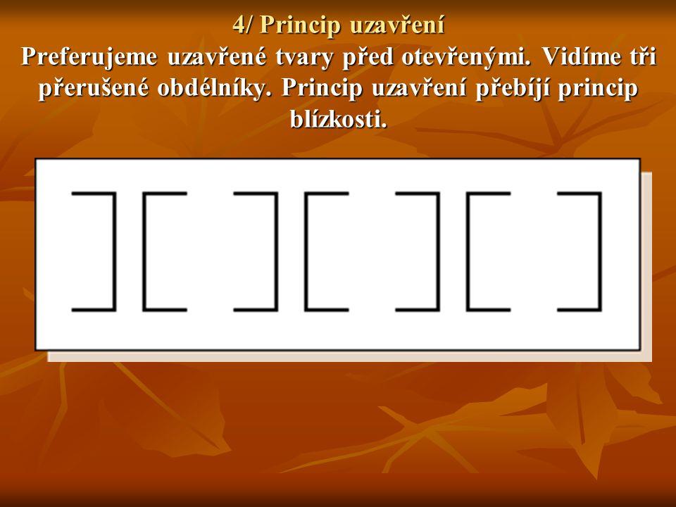 4/ Princip uzavření Preferujeme uzavřené tvary před otevřenými