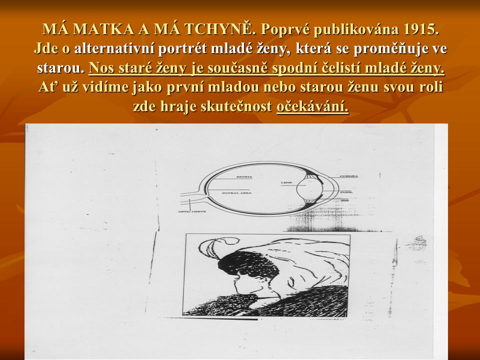 MÁ MATKA A MÁ TCHYNĚ. Poprvé publikována 1915