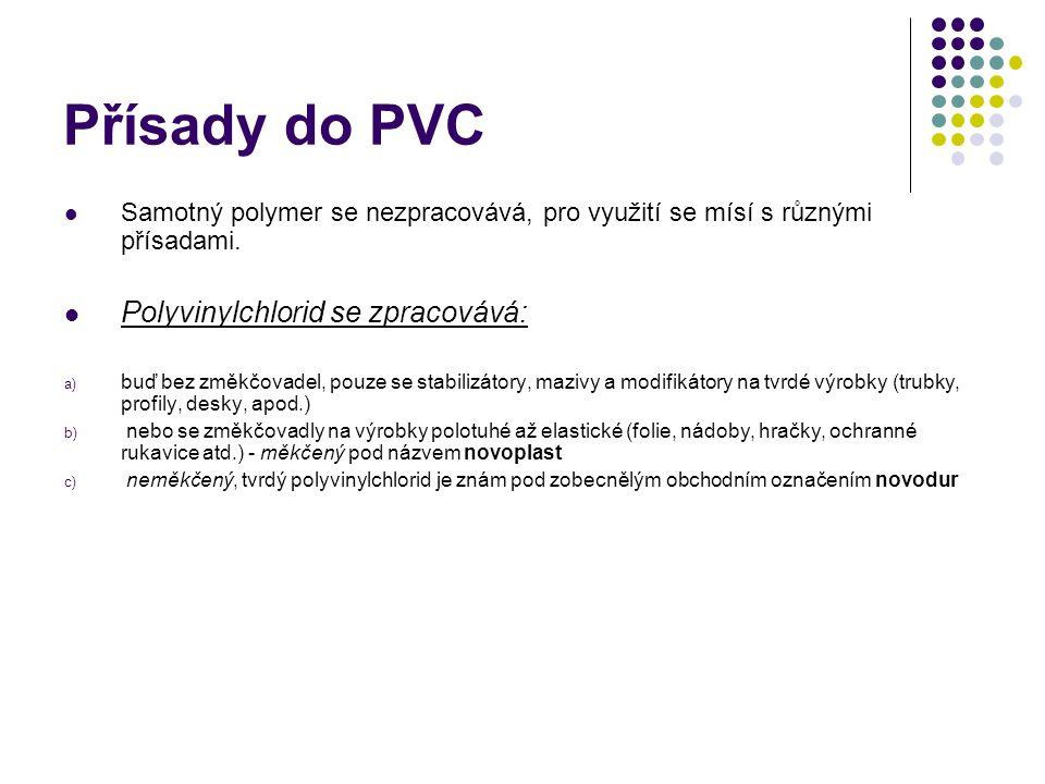 Přísady do PVC Polyvinylchlorid se zpracovává: