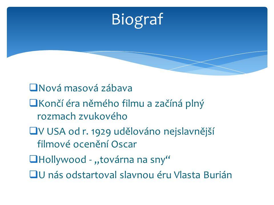 Biograf Nová masová zábava