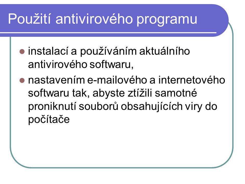 Použití antivirového programu