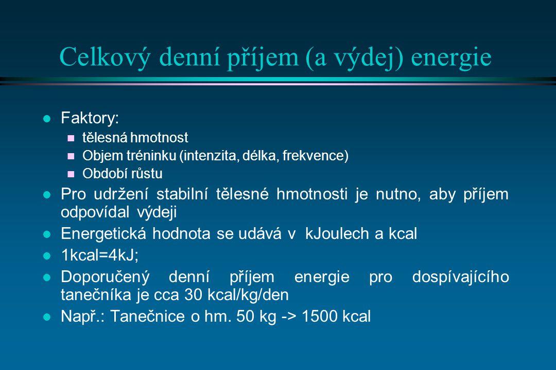 Celkový denní příjem (a výdej) energie