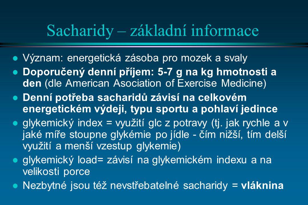 Sacharidy – základní informace