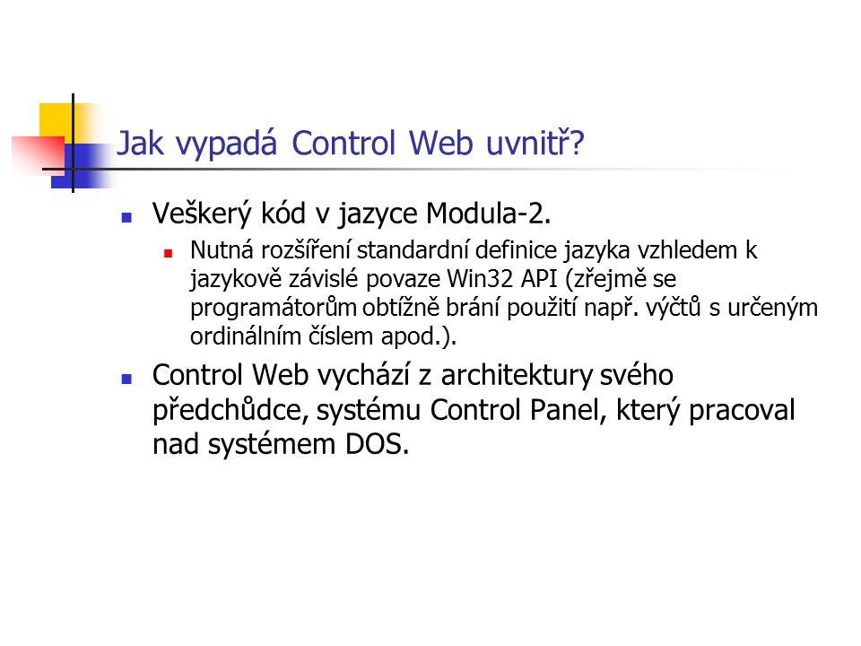 Jak vypadá Control Web uvnitř