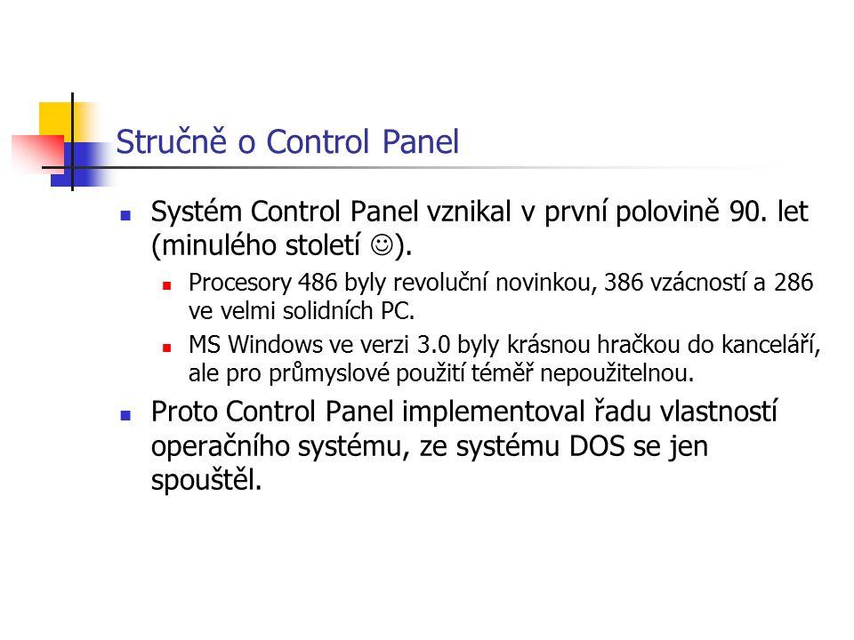 Stručně o Control Panel