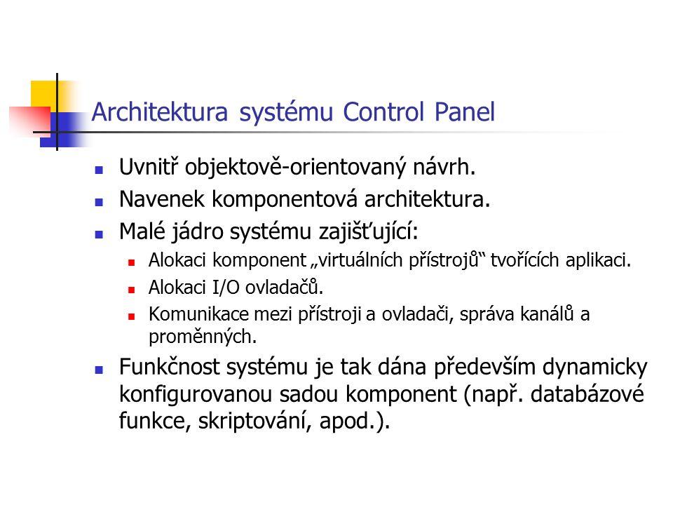 Architektura systému Control Panel