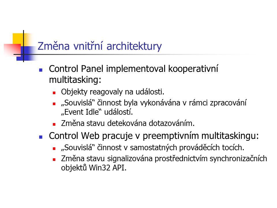 Změna vnitřní architektury