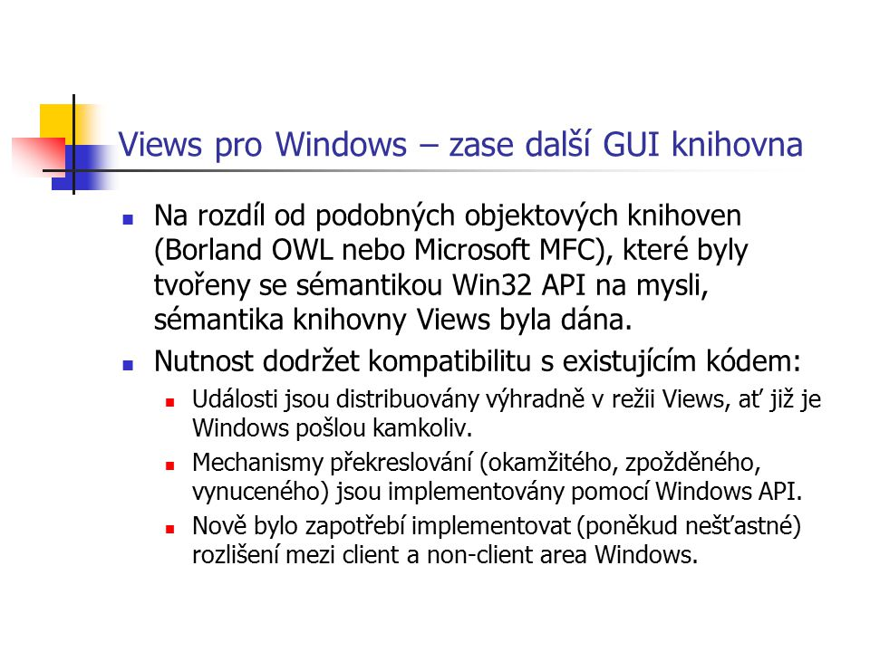 Views pro Windows – zase další GUI knihovna