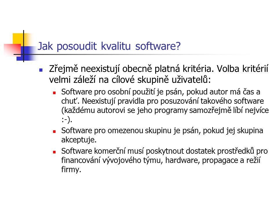Jak posoudit kvalitu software