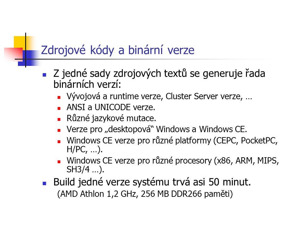 Zdrojové kódy a binární verze