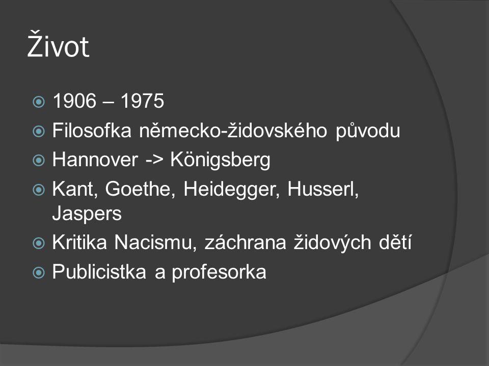 Život 1906 – 1975 Filosofka německo-židovského původu