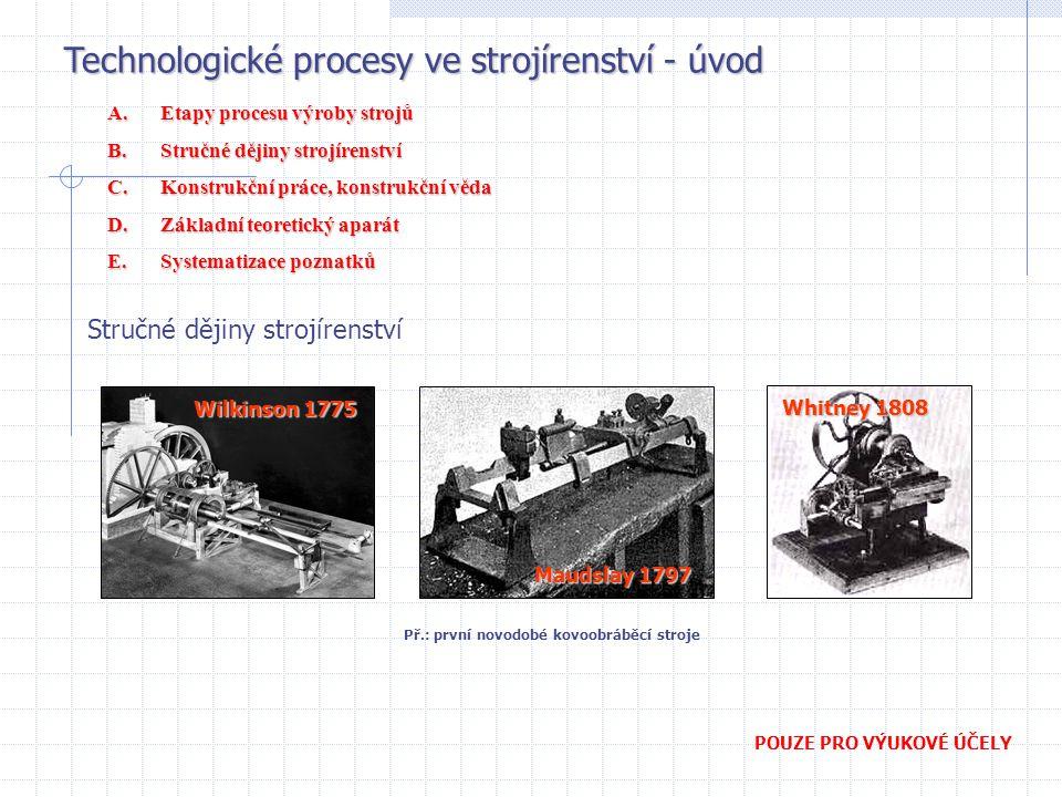 Př.: první novodobé kovoobráběcí stroje