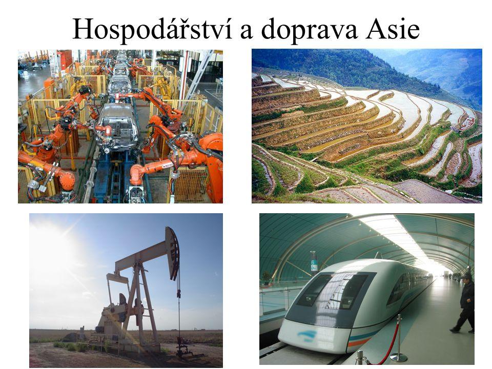 Hospodářství a doprava Asie