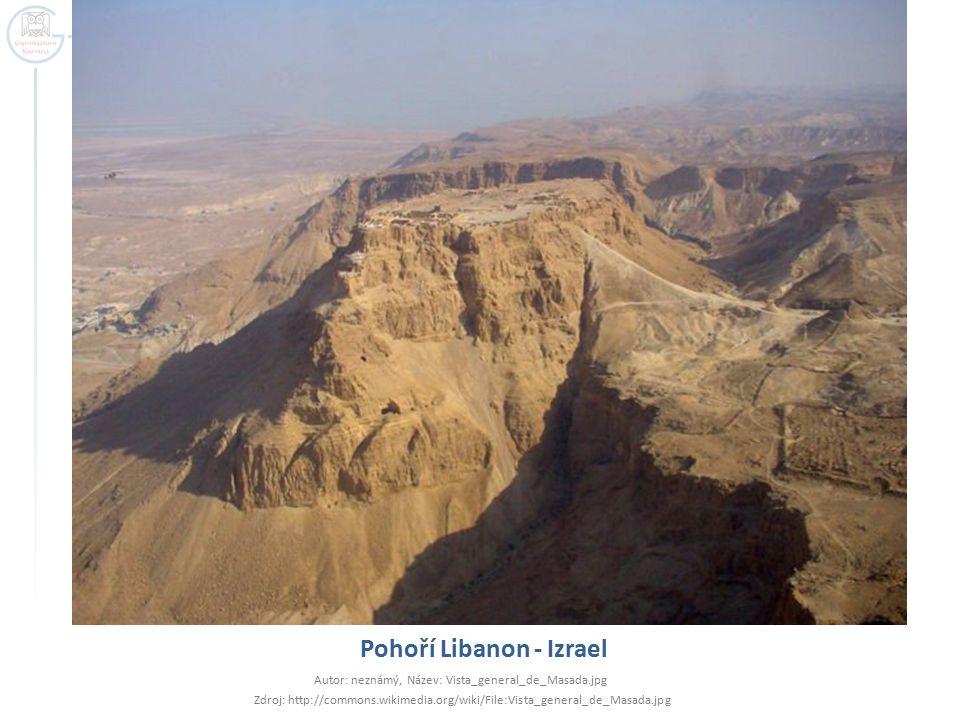 Pohoří Libanon - Izrael