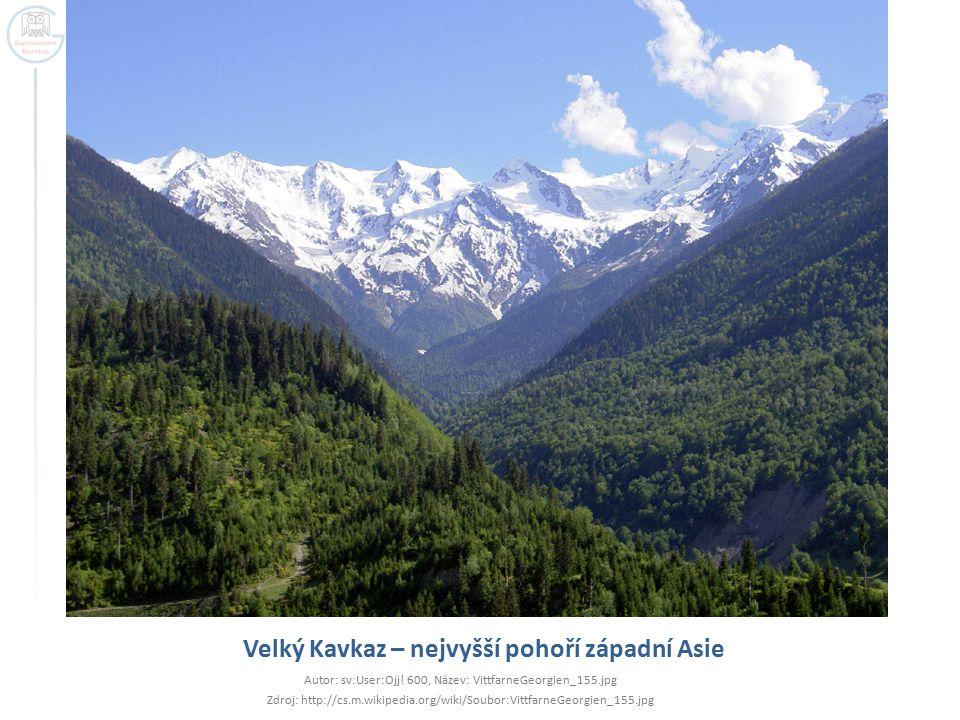 Velký Kavkaz – nejvyšší pohoří západní Asie