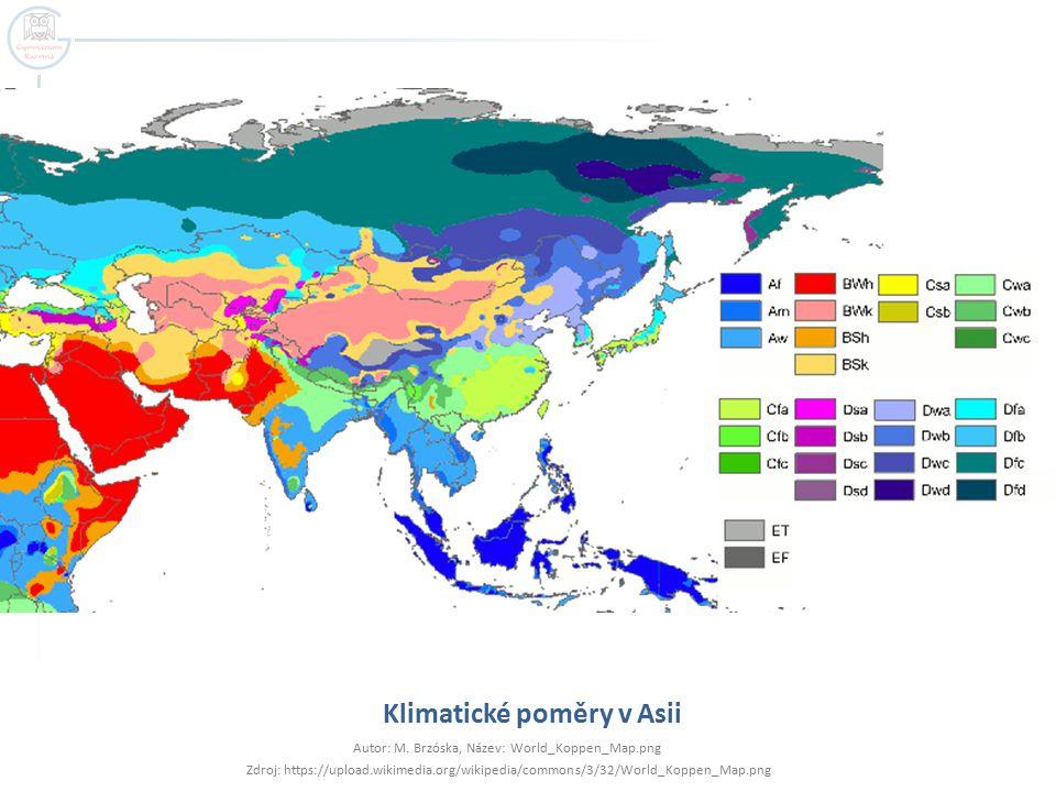 Klimatické poměry v Asii