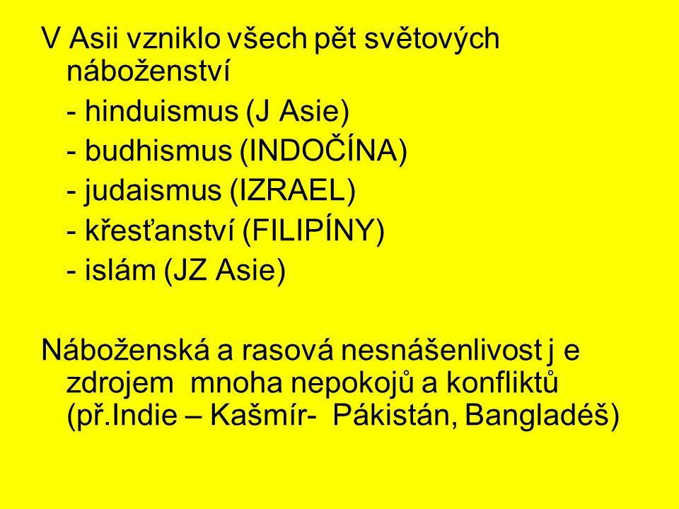V Asii vzniklo všech pět světových náboženství