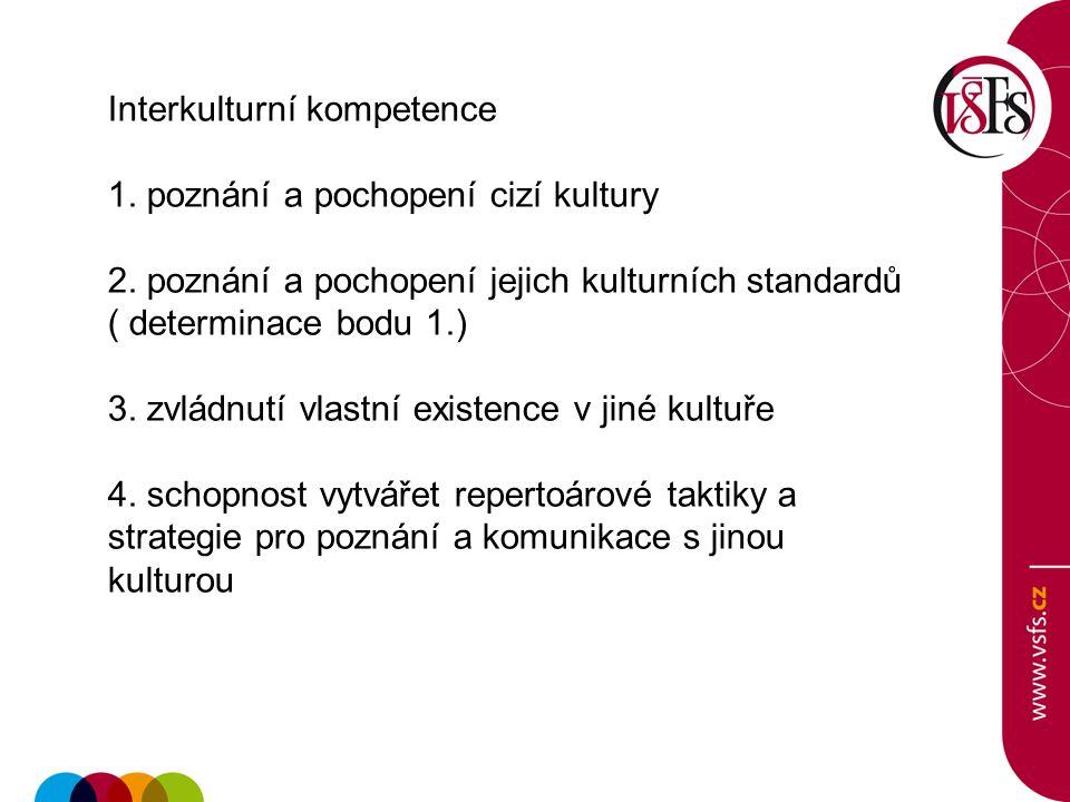 Interkulturní kompetence 1. poznání a pochopení cizí kultury